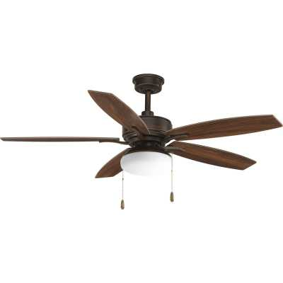 "52"" Segars 5 Blade Ceiling Fan, Light Kit Included - Wayfair"