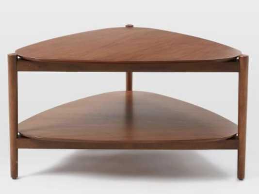 Retro Tripod Coffee Table, Walnut - West Elm