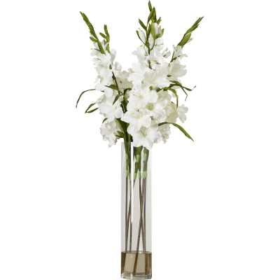 Gladiola Mixed Floral Arrangement in Vase - Wayfair