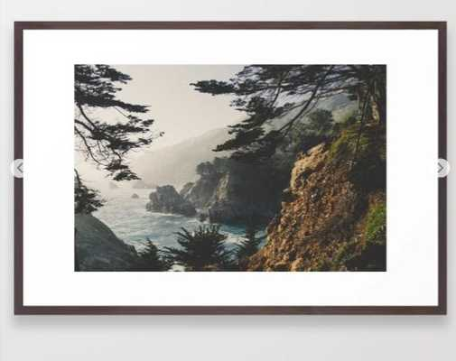 "Big Sur California Framed Art Print - 26""x38"" - Vector Black - Society6"