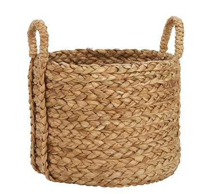 Beachcomber Handwoven Seagrass Round Handled Baskets - Pottery Barn
