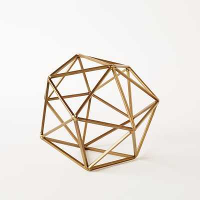 Symmetry Objects, Large Octahedron, Gold - West Elm