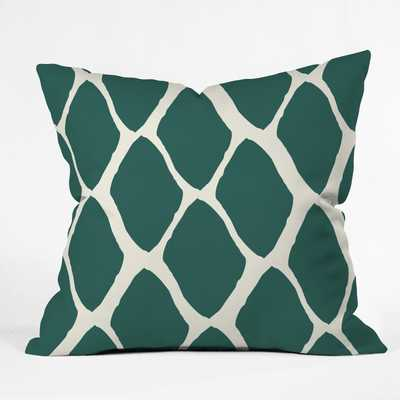 Teal Dreams Throw Pillow - with insert - Wander Print Co.