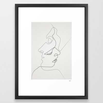 """Close Framed Art Print, Medium 20x26"""", Vector Black - Society6"""