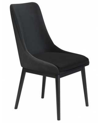 Ashmore Velvet Dining Chair (Set of 2) Black - Zuri Studios