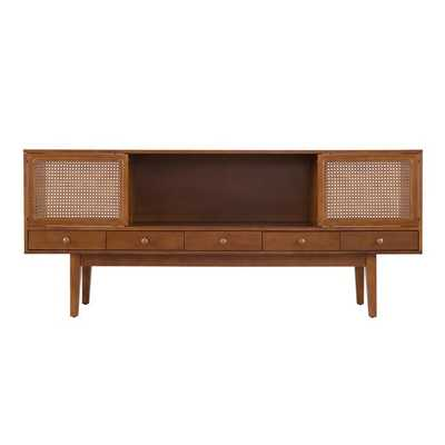 "George Oliver Dwight TV Stand for TVs up to 70"" in Dark Tobacco - Wayfair"