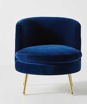 Cynthia Petite Accent Chair- Navy - Anthropologie