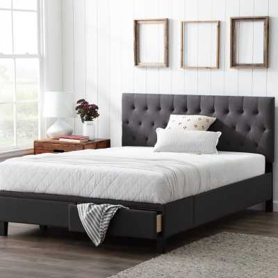 Gabouray Anna Upholstered Storage Platform Bed / Charcoal /Full - Wayfair
