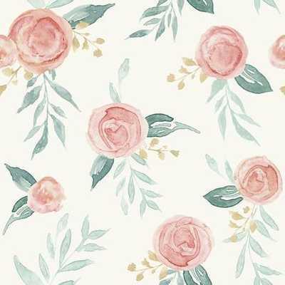 Watercolor Roses - York Wallcoverings