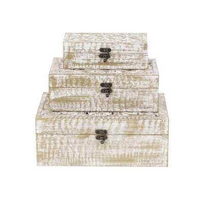 Heins Wood Carved 3 Piece Decorative Box Set See More from Union Rustic Shop - Wayfair