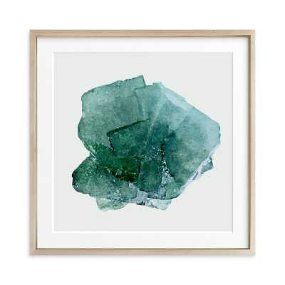 teal beach glass - 24 x 24, matted - Minted