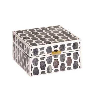 Gramercy Box Large in Grey & White - Koa Artisans