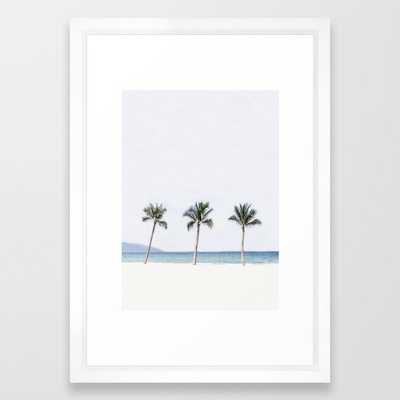 Palm trees 6 Framed Art Print by Andreas12 - Society6