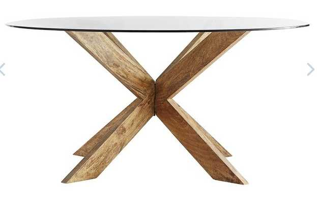 Modern X-Base Dining Table - Wisteria