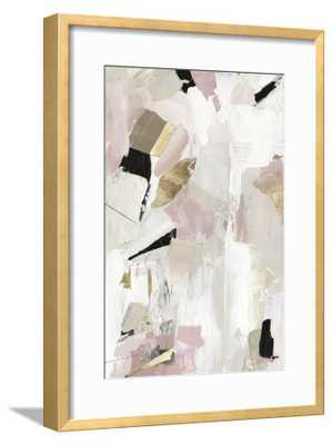 "Black Rose Gold I - 16"" x 24"" Art Print - Ramino Gold Thin 0.75"" Frame - Crisp Bright White 2.5"" Mat - Standard Acrylic - art.com"