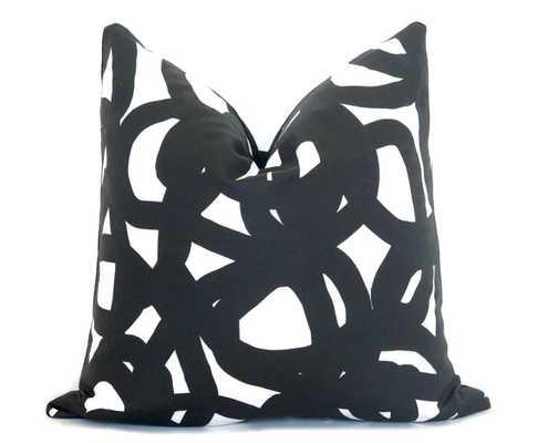 "Circle Brushstrokes Pillow Cover - 18"" x 18"", No Insert - Willa Skye"