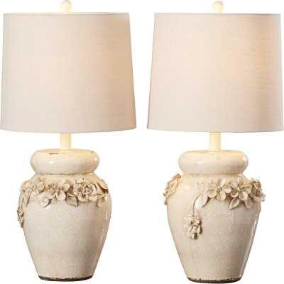 """Helene 24"""" White Table Lamp Set - Wayfair"""