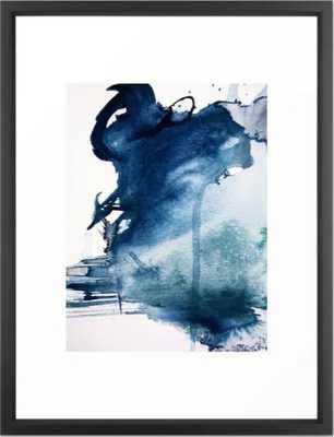 Pacific Grove: a pretty minimal abstract piece in blue by Alyssa Hamilton Art Framed Art Print - Society6