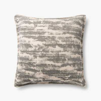 """P0891 Grey Pillow / 22"""" x 22"""" - cover only - Loma Threads"""