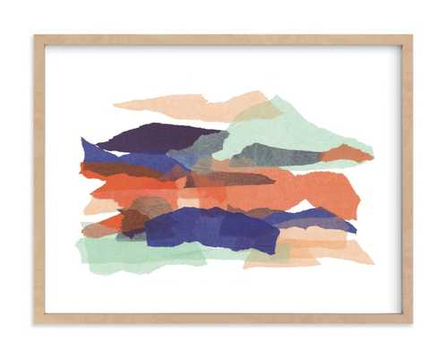 Mountain Sunset One - Natural Raw Wood Frame - Minted