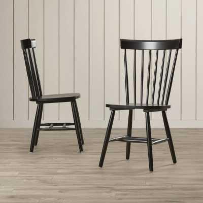Roudebush Solid Wood Dining Chair / Set of 2 / Black - Birch Lane