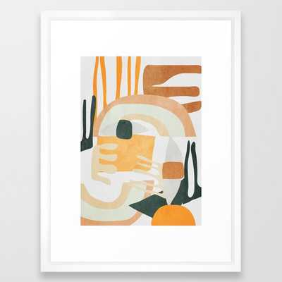 "Abstract Art 10 Framed Art Print, Vector White, Medium (gallery) - 20"" X 26"" - Society6"