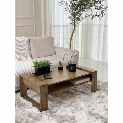 Millport Solid Wood Sled Coffee Table with Storage - Wayfair