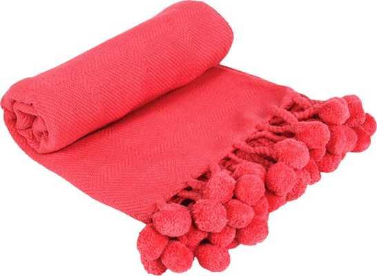 Stacey Cotton Throw, Coral - Wayfair