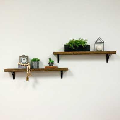 Pinecrest 2 Piece Bracket Shelf Set - Wayfair