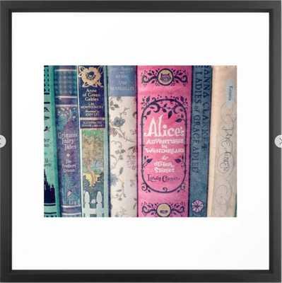 A Perfect Library photo Framed Art Print - Vector Black - 22 x 22 - Society6