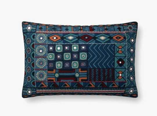 P0774 BLUE / MULTI Pillow - Loma Threads
