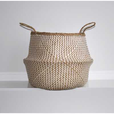 Natural Woven Wicker Tote Belly Basket - Wayfair