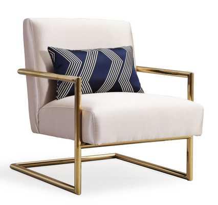 Lyla Beige Linen Chair / Beige - Maren Home
