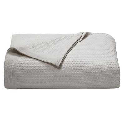 Baird Grey Cotton Full/Queen Blanket, Pastel Grey - Home Depot