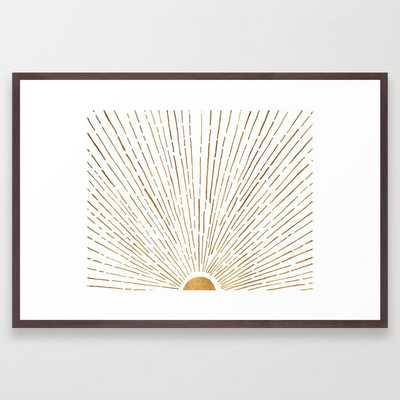 Let The Sunshine In Framed Art Print - Society6