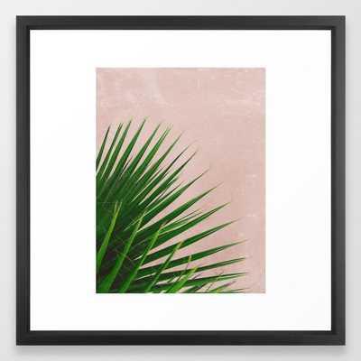Summer Time | Palm Leaves Photo Framed Art Print - Society6