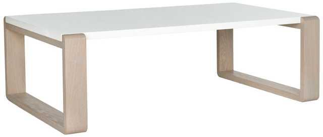 Bartholomew Coffee Table - White/Grey - Arlo Home