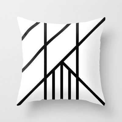 Bold Deco Throw Pillow - indoor - 20x20 w/insert - Society6
