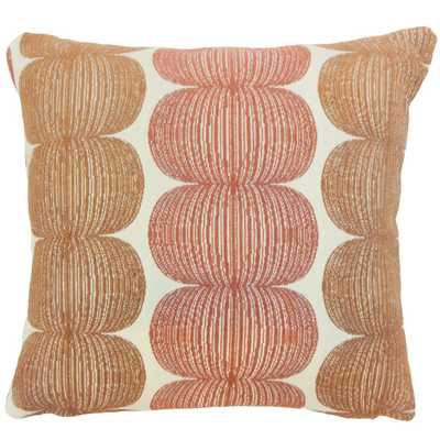 Abarne Graphic 22-inch Down Feather Throw Pillow Marmalade - Linen & Seam