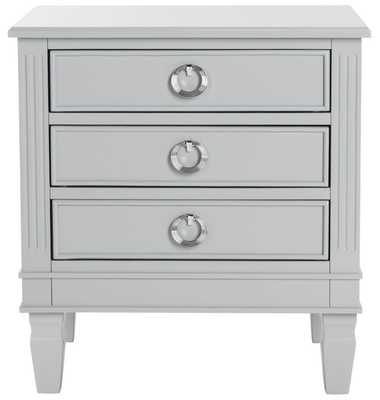 Kira Three Drawer Nightstand - Grey - Arlo Home - Arlo Home