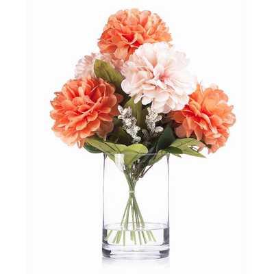 Dahlia Floral Arrangements in Vase - Wayfair
