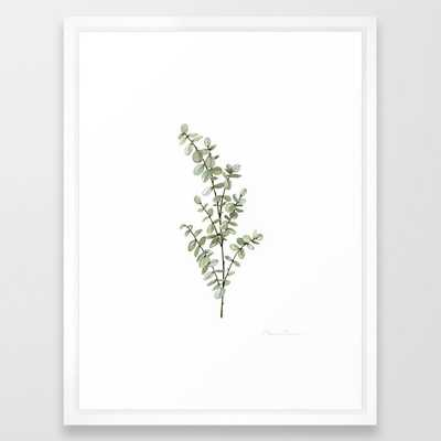 Baby Blue Eucalyptus Watercolor Painting Framed Art Print - Society6