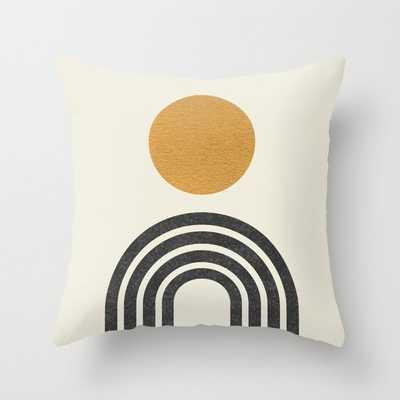 MidCentury Modern Gold Pillow - Society6