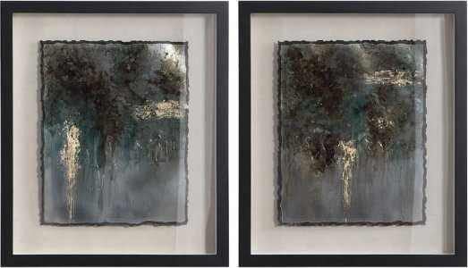 RUSTIC PATINA FRAMED PRINTS, S/2 - Hudsonhill Foundry