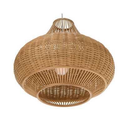 Wicker Pear 1-Light Globe Pendant - Wayfair