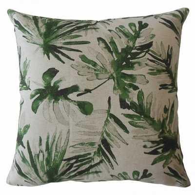 "Fola Floral Pillow Lubu - 18"" x 18"" - Poly Insert - Linen & Seam"