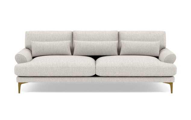 "Maxwell sofa, 82"", wheat cross weave, brass legs - Interior Define"
