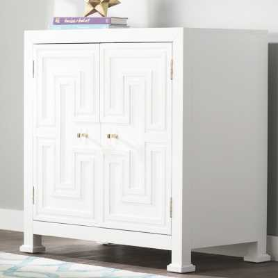 Hollins Geometric Overlay 2 Door Accent Cabinet - Wayfair