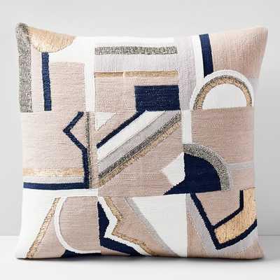 Embellished Deco Mix pillow- blush - West Elm