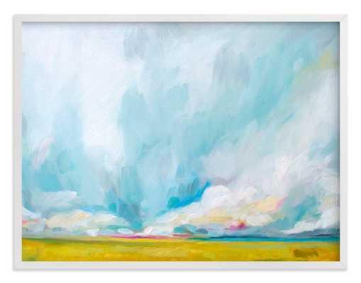 "Savannah Lands  - 40"" x 30"" - White Wood Frame - Minted"